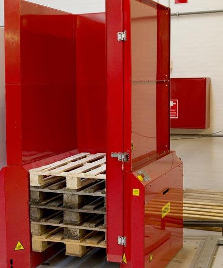 Option -  Sicherheitsabschrankung mit Tür für 15 Paletten für PALOMAT® Palettenmagazin