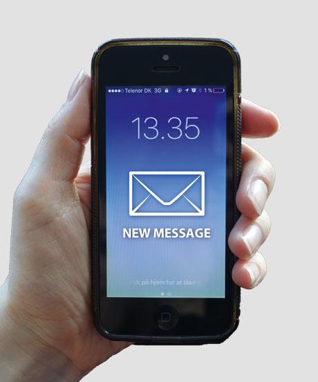 Option - Vorbereitet für Information via SMS/E-Mail